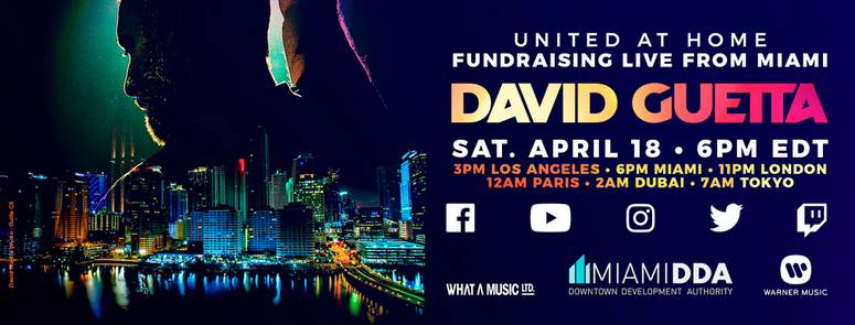 #UnitedatHome | David Guetta organise une gigantesque collecte de fonds pour les associations !